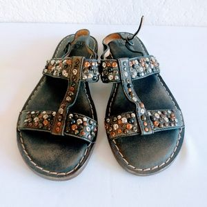 Frye Leather Studded Sandals Size 6.5